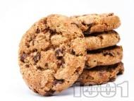 Рецепта Американски бисквити с бадеми и парченца шоколад